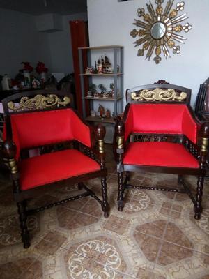 Antiguos sillones pata de leon tallados en posot class for Muebles antiguos luis xv