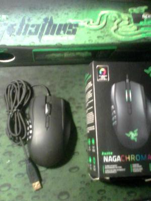 Vendo mouse gamer Razer Naga Chroma y mousepad Razer