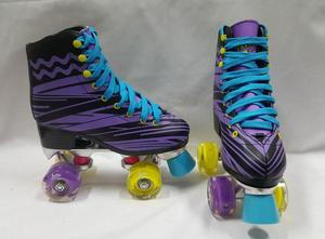 Patines Lady 4 Ruedas Con Luces