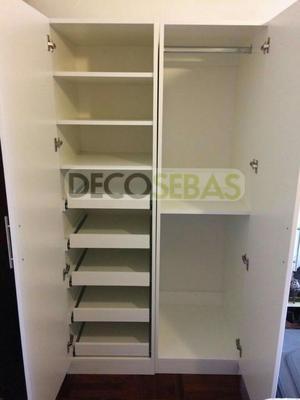 Sistema se correderas para closet ducloset simple posot for Closet con zapatera