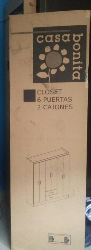 Vendo Closet 6 Puertas 2 Cajones Nuevo