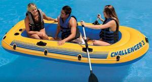 Bote Inflable Set Intex Para Camping, Playa Y Piscina