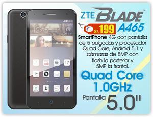 Smartphone ZTE BLADE A465 de 5'' 4G, de ocasión!