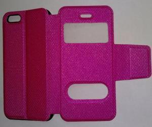 Iphone 5 5s Flip Cover Estuche Apple Rosado