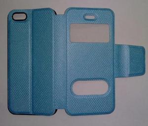 Iphone 5 5s Flip Cover Estuche Apple Turqueza