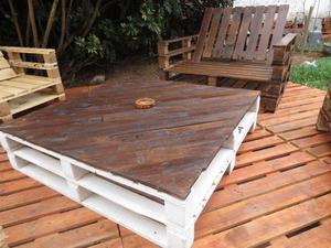 muebles de jardín terraza sillones pallets parihuelas