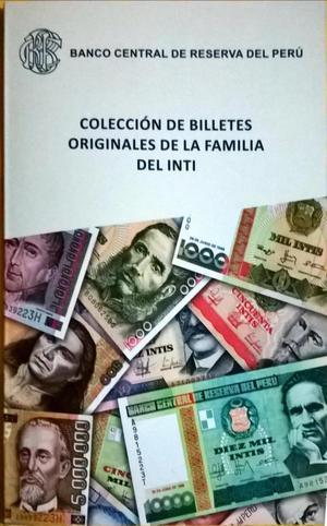 Colección de 11 billetes Intis