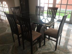 Sillas de madera para comedor restaurantes posot class for Comedor de vidrio con 6 sillas
