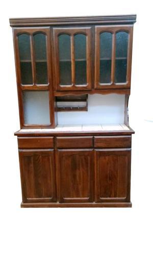 Mueble cocina repostero alacena en madera pino posot class - Mueble alacena cocina ...