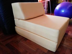 Sofa cama de espuma 1 plaza Color amarillo