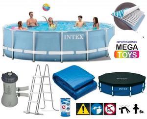 Piscina armable intex 457 x 122 accesorios posot class for Accesorios piscinas intex