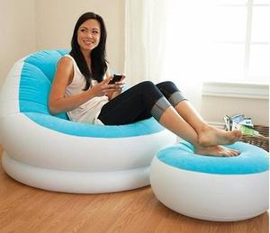 Puff Sillon Inflable Con Apoya Pies