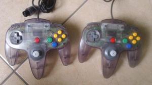 Nintendo N64 Mando Morado Transparente