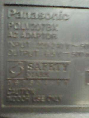 cargador telefono panasonic modelo pqlv207bx