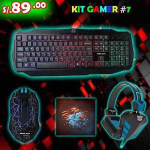 Kit Gamer Retroilumindao 4 En 1 Teclado Mouse Audifonos Pad