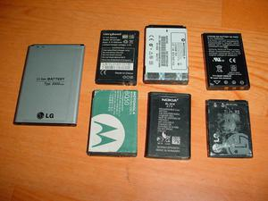 Lote 7 baterias celular usadas pero en buen estado