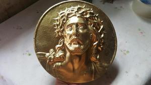Antiguo Rostro Cristo de Plomo
