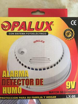 Detector de Humo Alarma Marca OPALUX