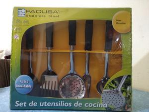 set de utensilios de cocina base de madera 11 posot class