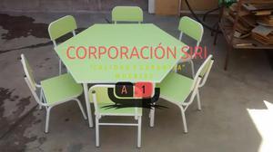 Mesas de inicial lapiz posot class for Sillas para inicial