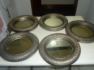 Set de 5 espejos posot class for Espejos circulares decorativos