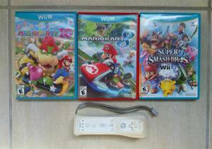 Juegos Wii U: Mario Kart 8, Mario Party 10, Super Smash Bros