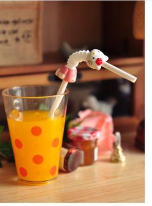 Cañita Sorbete Con Figura De Hello Kitty