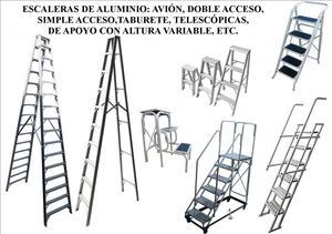 Escaleras articuladas de aluminio 8 12 y 16 pasos posot for Escaleras de aluminio usadas