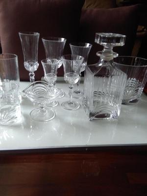 Juego de copas y vasos cristal d39arques posot class for Vasos y copas