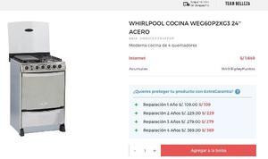 Cocina Whirlpool Modelo Weg60ptn Color Acero Inox2 Posot