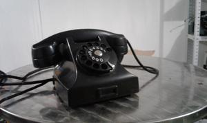 TELEFONO ANTIGUO DE BAQUELITA A DISCADO VINTAGE COLECCION