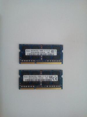 Memorias Ram 4gb Ddr3l mhz Nuevas