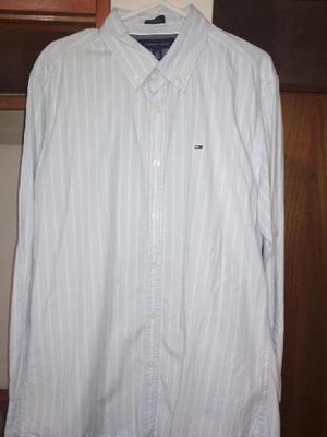 Camisa Tommy Hilfiger Talla L Custom Fit Original