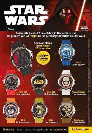 Coleccion Completa Reloj Star War