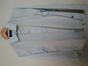 Camisa Unser Nuevos Algodon 100 Tallas M, L. Azul Claro