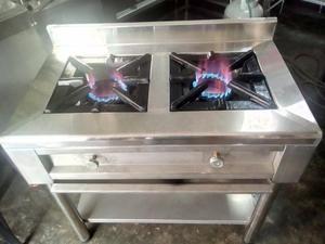 Remato cocina industrial inoxidable 03 hornillas posot class for Cocina 02 hornillas