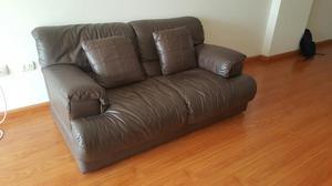 Sofa natuzzi 3 cuerpos cuero blanco posot class for Muebles de sala de cuero