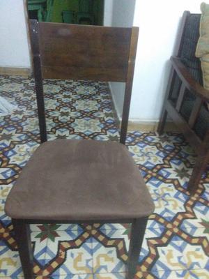 se vende 6 sillas buen estado, tapizado color marrón, 220