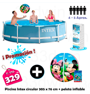 Piscinas armables intex posot class for Piscina inflable intex