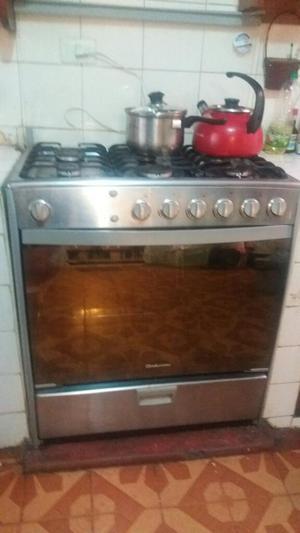Cocina a gas indurama murano 6 hornillas posot class for Cocina 02 hornillas