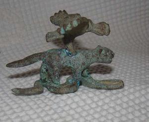 Antigua Escultura Inca Cóndor,puma Y Serpiente Rara Cobre