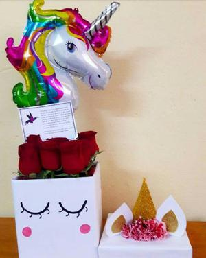 Box Unicornio Rosas