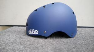 Casco Patines O Skate Ollie Color Azul Mate