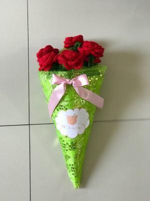 Ramo De Rosas A Crochet