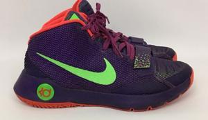Nike Kd Trey 5iii Court Hombre Purpura Verde Talla Us 11.5