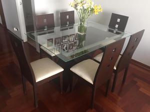 Mesa de comedor cedro perfecto estado posot class for Comedor 6 sillas usado