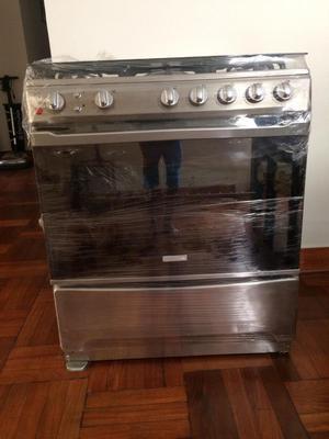 Cocina electrolux acero 5hornillas nueva s posot class for Precio cocina nueva