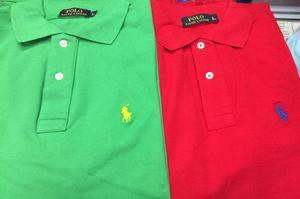 Camiseros Polo Ralph Lauren Verde Rojo Colores Talla S M L