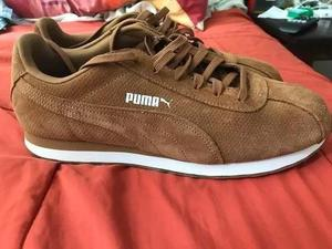 Zapatillas Puma Puro Cuero Marron Talla 10.5 Talla