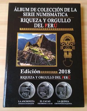 Album Coleccion Completa Monedas Riqueza y Orgullo del Peru